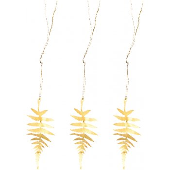 Tabwa Fern Leaf Brass Decorations - Set of 3