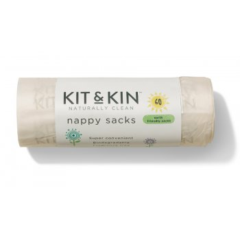 Kit & Kin Biodegradable Nappy Sacks - Pack of 60