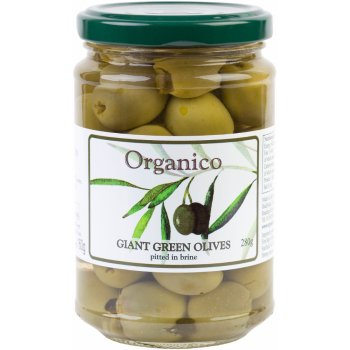 Organico Pitted Green Olives in Brine - 280g