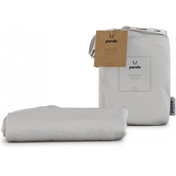Panda Pure White Bamboo Duvet Cover - King