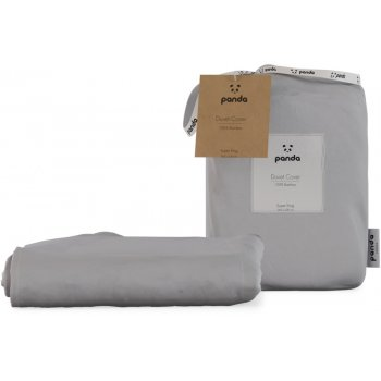 Panda Quiet Grey Bamboo Duvet Cover - Super King