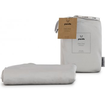 Panda Pure White Fitted Bamboo Sheet - Double