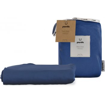 Panda Deep Sea Navy Fitted Bamboo Sheet - Super King