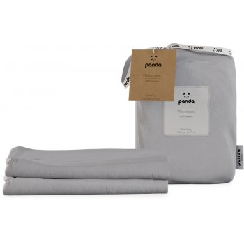 Panda Quiet Grey Bamboo Pillowcases - Pack of 2