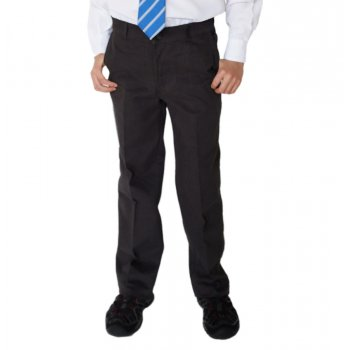 Boys Classic Fit Trousers - Charcoal - 11yrs