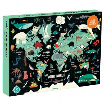 Mudpuppy Your World Recycled Puzzle - 1000 Piece