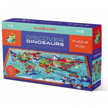 Crocodile Creek Discover Dinosaurs Jigsaw Puzzle - 100 Piece