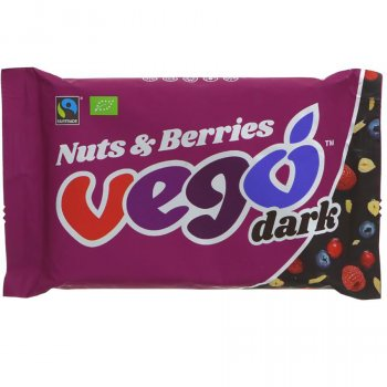 Vego Nuts & Berries Dark Chocolate Bar - 85g