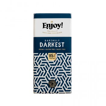Enjoy 85 percent  Dark Vegan Chocolate Bar - 35g