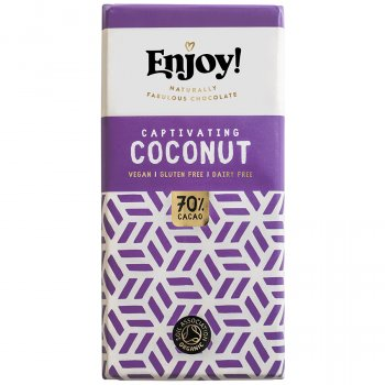 Enjoy Vegan Coconut Chocolate Bar - 70g
