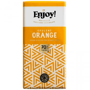 Enjoy Vegan Orange Chocolate Bar - 70g