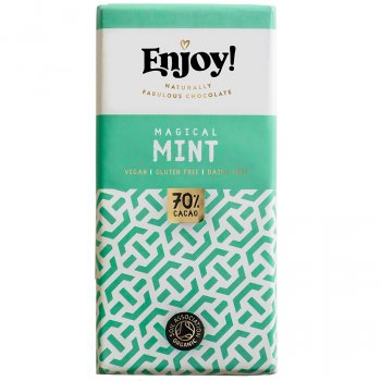 Enjoy Vegan Mint Chocolate Bar - 70g