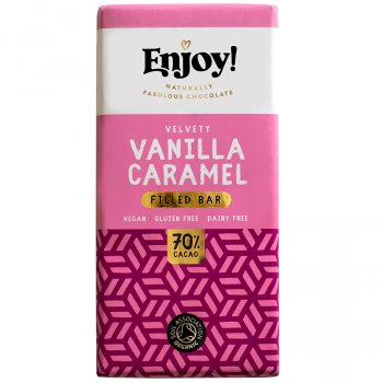 Enjoy Vanilla Caramel Filled Vegan Chocolate Bar - 70g