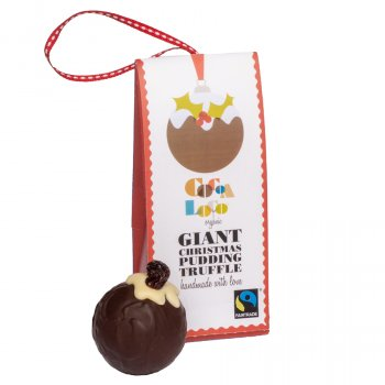Cocoa Loco Giant Christmas Pudding Truffle - 40g
