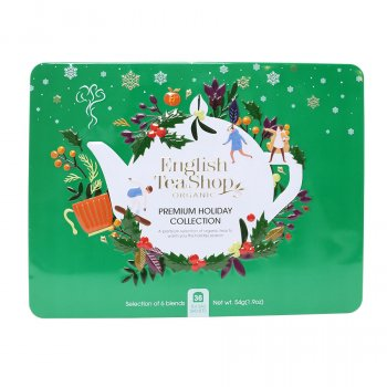 English Tea Shop Premium Holiday Collection Green Gift Tin - 36 Bags