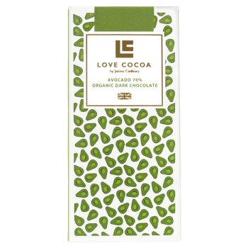 Love Cocoa Avocado Organic Dark Chocolate Bar - 80g