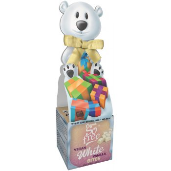 Plamil So Free White Chocolate Alternative Vanilla Bites in Polar Bear Box - 55g