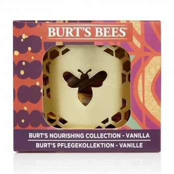 Burts Bees Nourishing Vanilla Bean Lip Balm & Cuticle Cream Gift Set