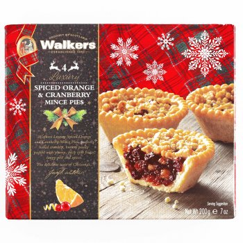 Walkers Cranberry & Orange Mince Pies - 200g