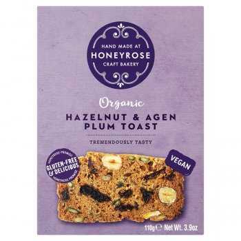 Honey Rose Hazelnut & Agen Plum Toast - 110g