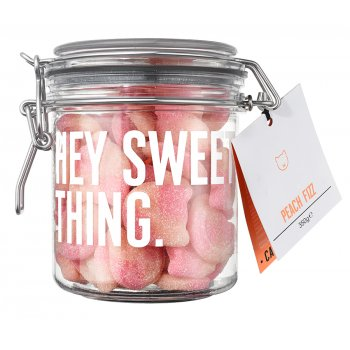 Candy Kitten Peach Fizz Sweets Gift Jar - 350g
