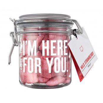 Candy Kitten Wild Strawberry Sweets Gift Jar - 350g
