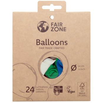 Fair Zone Natural Rubber Balloons - Pack of 24
