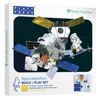 Play Press Toys Playpress Space Station Build and Play Set