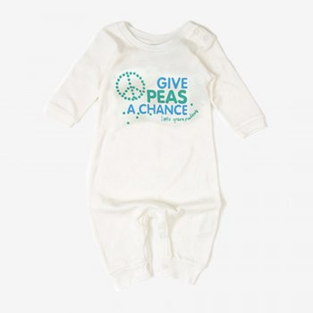 Little Green Radicals Give Peas a Chance Babygrow