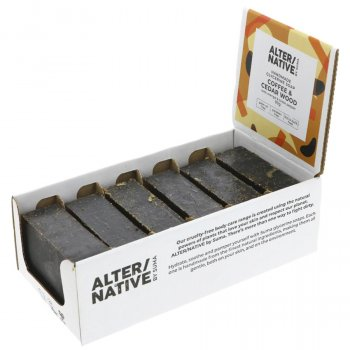 Alternative by Suma Glycerine Soap - Coffee & Cedarwood - 6 x 90g