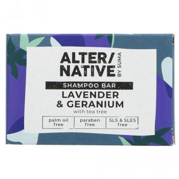 Alternative by Suma Shampoo Bar - Lavender & Geranium - 95g