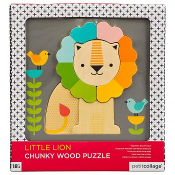 Petit Collage Little Lion Chunky Wood Puzzle