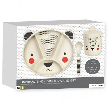 Petit Collage Bamboo Baby Dinnerware Set - Bear