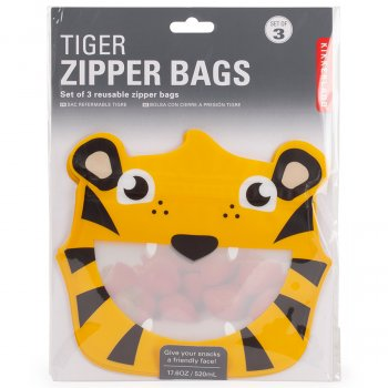 Tiger Zip Bags - Set of 3