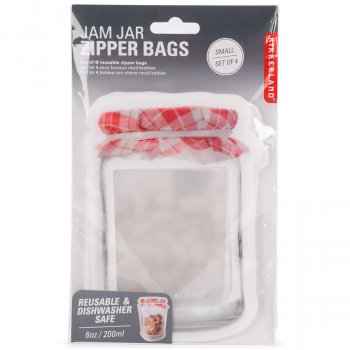 Small Jam Jar Zip Bags - Set of 4