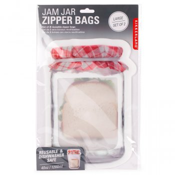 Large Jam Jar Zip Bags - Set of 2