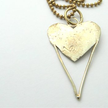 LA Jewellery Cupid Brass Necklace
