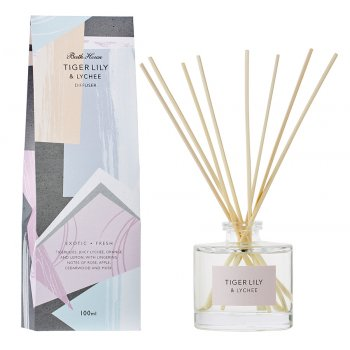 The Bath House Tiger Lily & Lychee Room Diffuser - 100ml