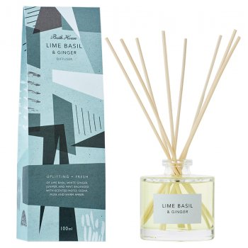 The Bath House Basil & Ginger Room Diffuser - 100ml
