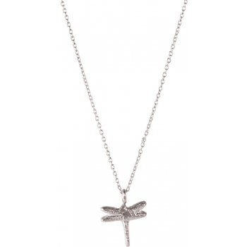 A Beautiful Story Delicate Dragonfly Silver Necklace