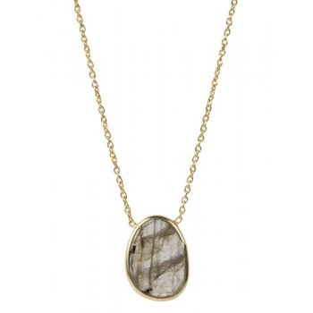 A Beautiful Story Tender Labradorite Silver Gold-Plated Necklace