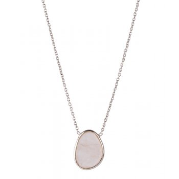 A Beautiful Story Tender Rose Quartz Silver Necklace