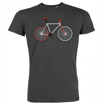 Green Bomb Bike Easy T-Shirt - Anthracite