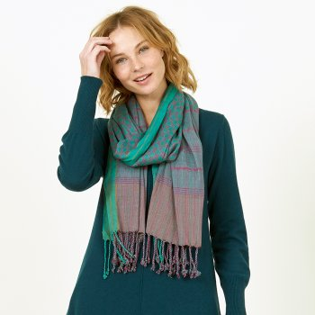 Nomads Peppermint Check Woven Scarf