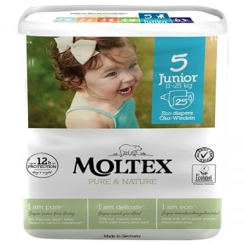 Moltex Pure & Nature Disposable Nappies - Junior - Size 5 - Pack of 25