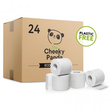 The Cheeky Panda Plastic Free FSC Bamboo Toilet Tissue - 24 rolls