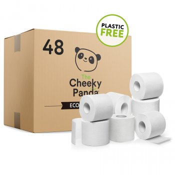 The Cheeky Panda Plastic Free FSC Bamboo Toilet Tissue - 48 rolls