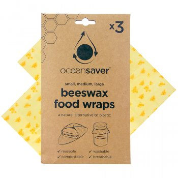 OceanSaver Assorted Beeswax Wraps - Pack of 3