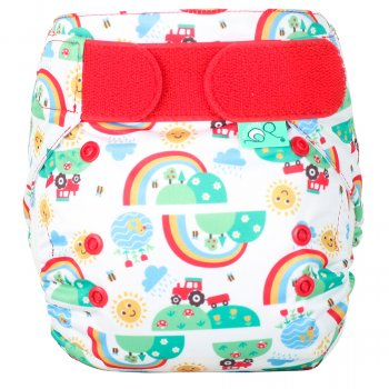 Tots Bots Easyfit Star All-in-One Reusable Nappy - Happy Days