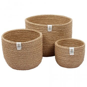 Respiin Tall Jute Basket Set - Natural